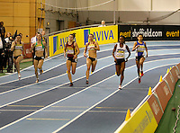 Photo: Richard Lane/Richard Lane Photography. Aviva World Trials & UK Championships. 13/02/2010. Women's 400m B Final heat.