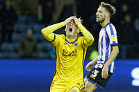 George Byers of Swansea City shows his frustration after failing to score during the Sky Bet Championship match between Sheffield Wednesday and Swansea City at Hillsborough Stadium, Sheffield, England, UK. Saturday 09 November 2019