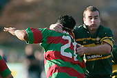 M. Tatafu gets taken in a high tackle. Counties Manukau Premier Club Rugby, Pukekohe v Waiuku  played at the Colin Lawrie field, on the 3rd of 2006.Pukekohe won 36 - 14