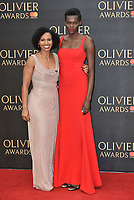 Marchu Girma, Sheila Atim<br /> The Olivier Awards 2018 , arrivals at The Royal Albert Hall, London, UK -on April 08, 2018.<br /> CAP/PL<br /> &copy;Phil Loftus/Capital Pictures
