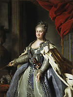 Portrait by Albert Albertrandi of Catherine II, circa 1770 - Catherine The Great-