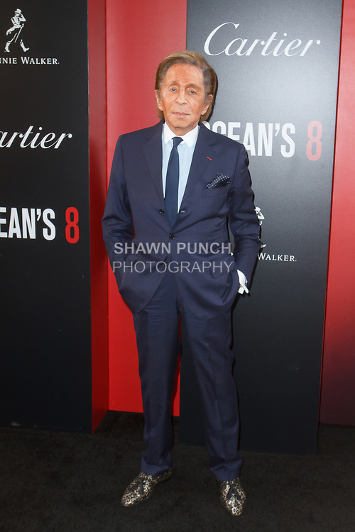 Fashion designer Valentino Garvani arrives at the World Premiere of Ocean's 8 at Alice Tully Hall in New York City, on June 5, 2018.