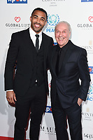 LONDON, UK. April 08, 2019: Calum Wilson &amp; Jeff Mostyn (Bournmouth chaiman) arriving for the Football for Peace initiative dinner by Global Gift Foundation at the Corinthia Hotel, London.<br /> Picture: Steve Vas/Featureflash