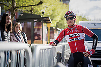 Remy Mertz (BEL/Lotto-Soudal) before the start in Liège<br /> <br /> 103rd Liège-Bastogne-Liège 2017 (1.UWT)<br /> One Day Race: Liège › Ans (258km)