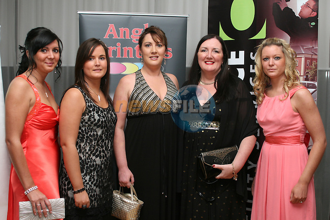 Lucy, Kelly, Cheryl, Theresa and Siobhan Wood from the Drogheda Womens Refuge at the Drogheda Chamber of Commerce Business Excellence Awards in the City North Hotel...Photo NEWSFILE/Jenny Matthews.(Photo credit should read Jenny Matthews/NEWSFILE)....This Picture has been sent you under the condtions enclosed by:.Newsfile Ltd..The Studio,.Millmount Abbey,.Drogheda,.Co Meath..Ireland..Tel: +353(0)41-9871240.Fax: +353(0)41-9871260.GSM: +353(0)86-2500958.email: pictures@newsfile.ie.www.newsfile.ie.FTP: 193.120.102.198.