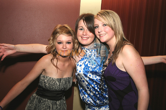 Ciara Tiernan, Jessica Foran and Gillian Kelly at Shauna Mohan's 18th in the Boyne Valley Hotel...Photo NEWSFILE/Jenny Matthews.(Photo credit should read Jenny Matthews/NEWSFILE)....This Picture has been sent you under the condtions enclosed by:.Newsfile Ltd..The Studio,.Millmount Abbey,.Drogheda,.Co Meath..Ireland..Tel: +353(0)41-9871240.Fax: +353(0)41-9871260.GSM: +353(0)86-2500958.email: pictures@newsfile.ie.www.newsfile.ie.FTP: 193.120.102.198.