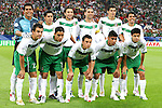 21 June 2006: Mexico starting eleven, pregame.  Front row (l to r): Luis Perez (MEX), Omar Bravo (MEX), Mario Mendez (MEX), Carlos Salcido (MEX), Gonzalo Pineda (MEX).  Back row (l to r): goalkeeper Oswaldo Sanchez (MEX), Ricardo Osorio (MEX), Jose Fonseca (MEX), Rafael Marquez (MEX), Francisco Rodriguez (MEX), Pavel Pardo (MEX). Portugal defeated Mexico 2-1 at Veltins Arena in Gelsenkirchen, Germany in match 39, a Group D first round game, of the 2006 FIFA World Cup.  With the win, Portugal won the group, but both teams will advance to second round play.