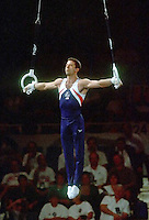 July 22, 1998; New York, NY, USA;  Artistic gymnasts Chris LaMorte of USA performs on still rings at 1998  Goodwill Games New York. Copyright 1998 Tom Theobald