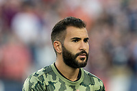 FOXBOROUGH, MA - AUGUST 3: Steven Beitashour #3 of Los Angeles FC during a game between Los Angeles FC and New England Revolution at Gillette Stadium on August 3, 2019 in Foxborough, Massachusetts.