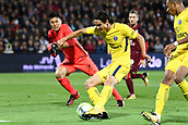 September 8th 2017, Stade Saint-Symphorien, Metz, France; French League 1 football, Metz versus Paris St Germain;  09 EDINSON CAVANI (psg) gets past keeper Kawashima to score in the 31st minute