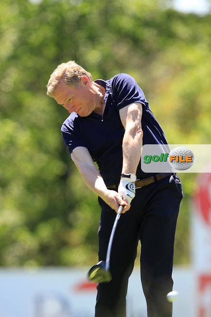 Richard Bevan (AM) on the 18th tee during the Pro-Am in The Open De Espana at The PGA Catalunya Resort on Wednesday 14th May 2014.<br /> Picture:  Thos Caffrey / www.golffile.ie