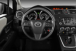 Steering wheel view of a 2012 Mazda Mazda5