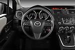 Steering wheel view of a 2012 Mazda Mazda5