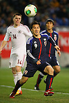 Shinji Okazaki (JPN), .FEBRUARY 6, 2013 - Football / Soccer : .KIRIN Challenge Cup 2013 Match between Japan 3-0 Latvia .at Home's Stadium Kobe in Hyogo, Japan. .(Photo by Akihiro Sugimoto/AFLO SPORT)