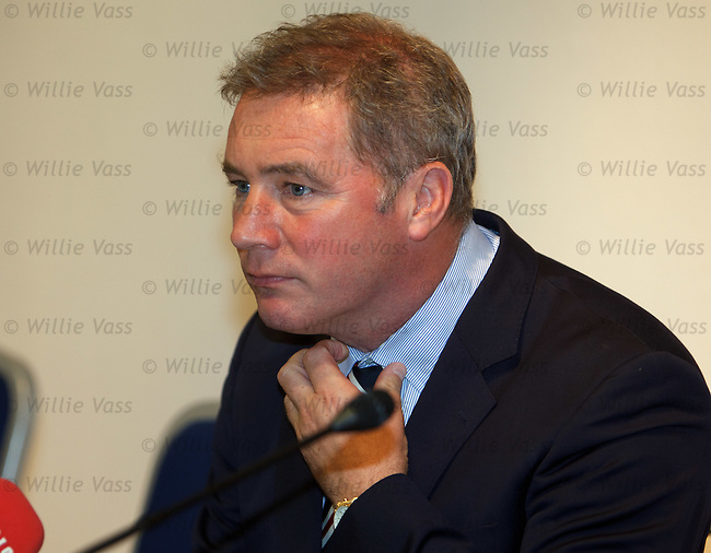 Ally McCoist at the Europa League press conference in Maribor