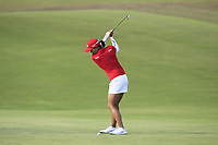 Jin Young Ko (KOR) in action on the 1st during Round 3 of the HSBC Womens Champions 2018 at Sentosa Golf Club on the Saturday 3rd March 2018.<br /> Picture:  Thos Caffrey / www.golffile.ie<br /> <br /> All photo usage must carry mandatory copyright credit (&copy; Golffile   Thos Caffrey)