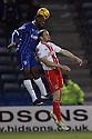 David Gray of Stevenage and Myles Weston of Gillingham challenge for a header<br />  - Gillingham v Stevenage - Sky Bet League One - Priestfield, Gillingham - 26th November 2013. <br /> © Kevin Coleman 2013