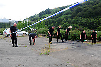 2018 08 08 Police at the house where the body of David Gaut was found, New Tredegar, UK