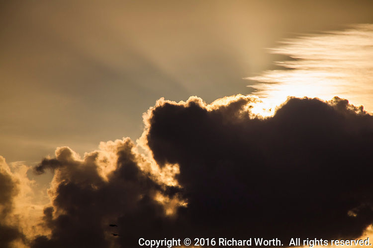 The sun slipped behind the clouds like an actress from the 40s or 50s slipping behind a dressing screen:  taunting.