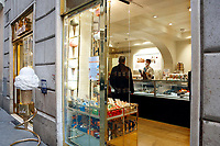 Venci ice-creams shop<br /> Roma May 18th 2020. Covid-19 Italy further relaxes lockdown. Today a Council of Minister's decree will allow almost all the activity to reopen. Clothes shops, shopping centers, hairdresser and churches for religious services. <br /> Photo Samantha Zucchi Insidefoto