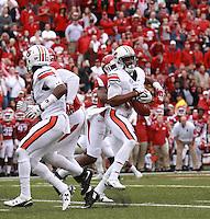 Arkansas Democrat-Gazette/BENJAMIN KRAIN --10/24/2015--<br /> Arkansas defensive back Josh Liddell (28) breaks up a fourth down pass to Auburn's Richardo Louis giving the Razorbacks a 54-46 4OT victory in Fayetteville.