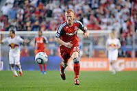 Richard Eckersley (27) of Toronto FC. The New York Red Bulls defeated Toronto FC 5-0 during a Major League Soccer (MLS) match at Red Bull Arena in Harrison, NJ, on July 06, 2011.