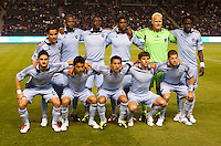 Sporting Kansas City starting eleven. Sporting KC defeated CD Chivas USA 3-2 at Home Depot Center stadium in Carson, California on Saturday March 19, 2011...