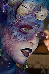 The annual Australian Body Art Carnivale was held at Eumundi, Queensland in May 2011. Colourful creations competed for prizes awarded to the best art in a variety of categories.