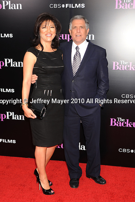 "WESTWOOD, CA. - April 21: Julie Chen and Les Moonves attends the ""The Back-Up Plan"" Los Angeles Premiere at Regency Village Theatre on April 21, 2010 in Westwood, California."