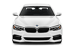 Car photography straight front view of a 2019 BMW 5-Series M-Sport 4 Door Sedan Front View