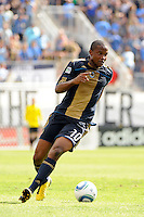 Danny Mwanga (10) of the Philadelphia Union. The Philadelphia Union and the Kansas City Wizards played to a 1-1 tie during a Major League Soccer (MLS) match at PPL Park in Chester, PA, on September 04, 2010.