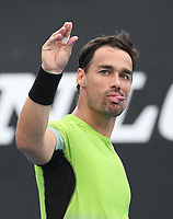 17th January 2019, Melbourne Park, Melbourne, Australia; Australian Open Tennis, day 4; Fabio Fognini of Italy celebrates after win the match against Leonardo Mayer of Argentina