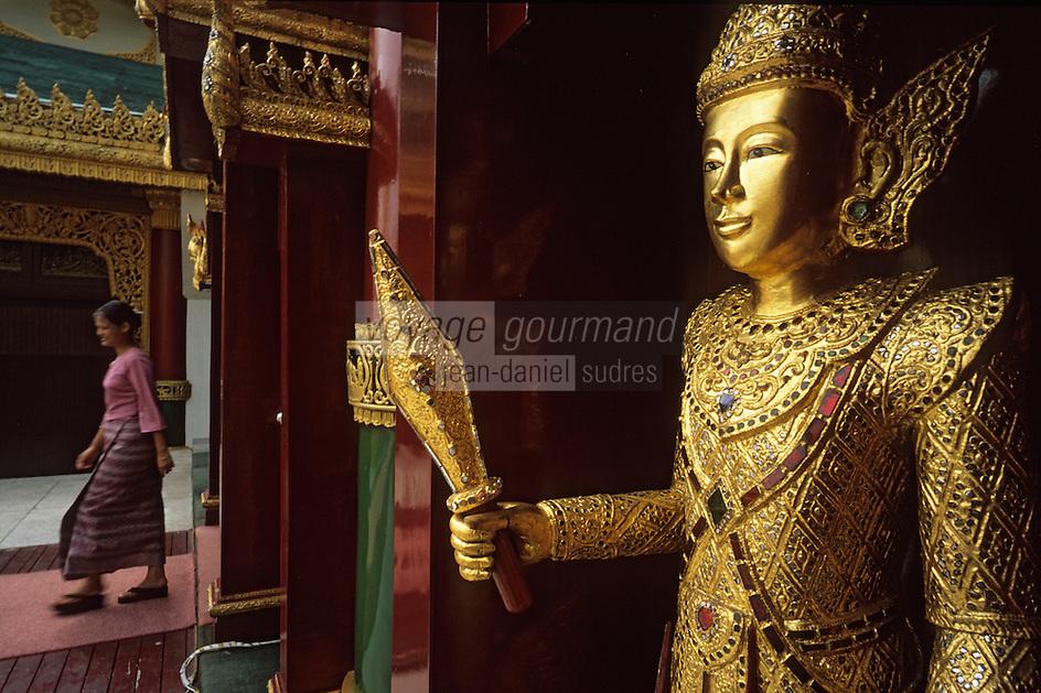 Asie/Birmanie/Myanmar/Yangon: Lac Kandawgye - Détail du Karawik