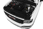 Car Stock 2016 GMC Sierra 1500 2WD Crew Cab Short Box 4 Door Pick-up Engine  high angle detail view