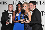 James Corden; Audra McDonald; Nina Arianda; Steve Kazee pictured at the 66th Annual Tony Awards held at The Beacon Theatre in New York City , New York on June 10, 2012. © Walter McBride / WM Photography
