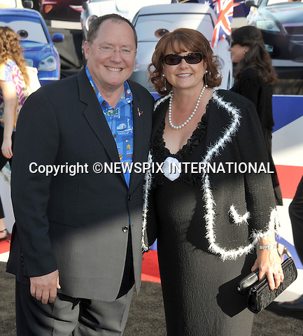 "JOHN LASSETER.attends the World Premiere of Disney Pixar's ""Cars 2"" at the El Capitan Theatre on June 18, 2011 in Hollywood, California_18/06/201.Mandatory Photo Credit: ©Crosby/Newspix International. .**ALL FEES PAYABLE TO: ""NEWSPIX INTERNATIONAL""**..PHOTO CREDIT MANDATORY!!: NEWSPIX INTERNATIONAL(Failure to credit will incur a surcharge of 100% of reproduction fees).IMMEDIATE CONFIRMATION OF USAGE REQUIRED:.Newspix International, 31 Chinnery Hill, Bishop's Stortford, ENGLAND CM23 3PS.Tel:+441279 324672  ; Fax: +441279656877.Mobile:  0777568 1153.e-mail: info@newspixinternational.co.uk"