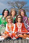 DANCERS: Tara McDonald, Ballybunion, Laura Lynch, Katie McEvoy and Shona Heaslip, Tralee, and Lauren Dineen, Causeway, who competed in the All Ireland Irish Dancing Championships in the INEC Killarney last Saturday..