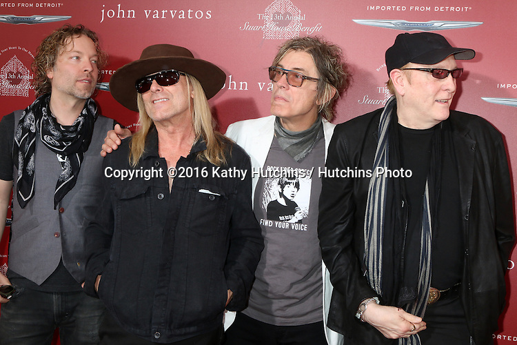 LAS VEGAS - APR 17:  Robin Zander, Tom Petersson, Rick Nielsen, Daxx Nielsen, Cheap Trick at the John Varvatos 13th Annual Stuart House Benefit at the John Varvatos Store on April 17, 2016 in West Hollywood, CA