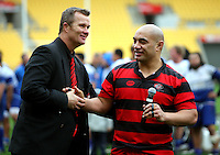 Poneke coach Richard Watts and captain Misipalauni Moananu. Wellington club rugby Jubilee Cup final between Northern United and Poneke at Westpac Stadium, Wellington, New Zealand on Sunday, 15 August 2010. Photo: Dave Lintott/lintottphoto.co.nz