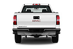 Straight rear view of 2016 GMC Sierra 1500 2WD Crew Cab Short Box 4 Door Pick-up Rear View  stock images
