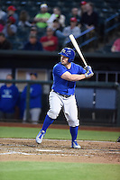 ***Temporary Unedited Reference File***Omaha Storm Chasers designated hitter Travis Snider (22) during a game against the Memphis Redbirds on May 5, 2016 at AutoZone Park in Memphis, Tennessee.  Omaha defeated Memphis 5-3.  (Mike Janes/Four Seam Images)