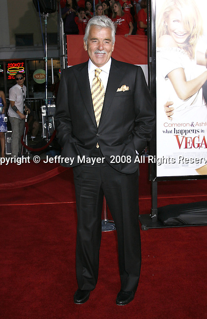 "Actor Dennis Farina arrives at the Premiere Of Fox's ""What Happens In Vegas"" on May 1, 2008 at the Mann Village Theatre in Los Angeles, California."