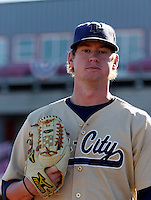 Wes Musick of the Tri-City Dust Devils in the Northwest League championship game against the Salem-Keizer Volcanoes at Volcanoes Stadium - 9/10/2009..Photo by:  Bill Mitchell/Four Seam Images..