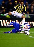 Nederland, Arnhem, 13 februari 2016<br /> Eredivisie<br /> Seizoen 2015-2016<br /> Vitesse-SC Heerenveen <br /> Lewis Baker van Vitesse schreeuwt het uit na een duel met Joey van den Berg van SC Heerenveen.