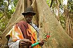 Les rois occupent une place tres importante dans la societe des Bijagos. Ils transmettent les rites et ceremonies indispensables a la cohesion sociale. village de Meneque
