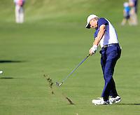 Jordan Spieth (Team USA) during Sunday Singles matches at the Ryder Cup, Hazeltine National Golf Club, Chaska, Minnesota, USA. 02/10/2016<br /> Picture: Golffile   Fran Caffrey<br /> <br /> <br /> All photo usage must carry mandatory copyright credit (&copy; Golffile   Fran Caffrey)