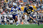 FOXBORO, MA - MAY 28: Tim Towler #22 of the Merrimack Warriors during the Division II Men's Lacrosse Championship held at Gillette Stadium on May 28, 2017 in Foxboro, Massachusetts. (Photo by Larry French/NCAA Photos via Getty Images)