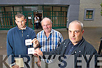 Chris Fitzgerald , Dromavalla, Tralee, Mike O'Donnell Ballysheen, Abbeydorney and David Smart, Killarney who spent hours waiting at Tralee Motor Tax offce on Wednesday.