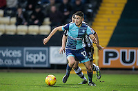 Luke O'Nien of Wycombe Wanderers in action during the Sky Bet League 2 match between Notts County and Wycombe Wanderers at Meadow Lane, Nottingham, England on 10 December 2016. Photo by Andy Rowland.