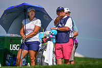 Mirim Lee (KOR) looks over her tee shot on 16 during Thursday's first round of the 72nd U.S. Women's Open Championship, at Trump National Golf Club, Bedminster, New Jersey. 7/13/2017.<br /> Picture: Golffile | Ken Murray<br /> <br /> <br /> All photo usage must carry mandatory copyright credit (&copy; Golffile | Ken Murray)